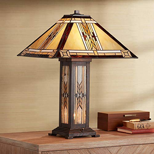 Drake Mission Collection Tiffany Style Nightlight Table Lamp