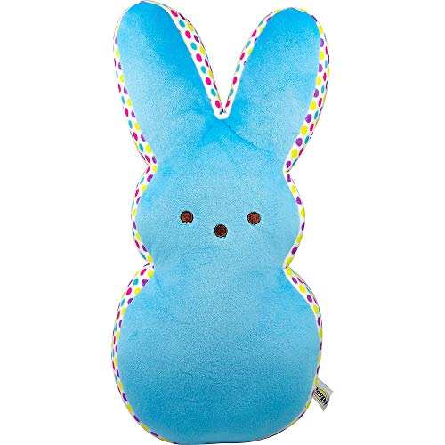 "JP 15"" Plush Peeps Bunny with Confetti Dot Border (Blue)"