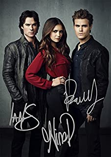 The Vampire Diaries TV Show Print - Cast Ian Somerhalder, Paul Wesley, Nina Dobrev (11.7