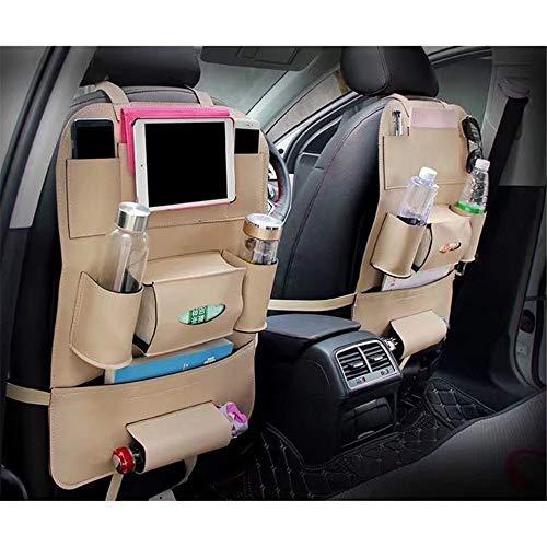 Best Prices! JIANGXIUQIN Car Storage Bag 1 Piece Protective Car Seat Back Organiser Kick Mats PU Lea...