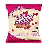 Justine's Protein Kekse, 12 x 64 g, Himbeere Weiße Schokolade -