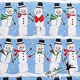 Xiaoludian Weihnachten Schneemann Baumwolle Plain Fabric