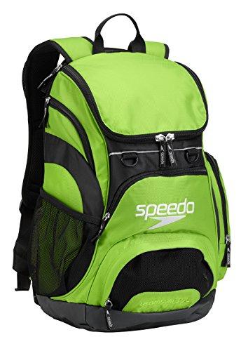 Speedo Large Teamster Backpack, Jasmine Green/Black, 35-Liter