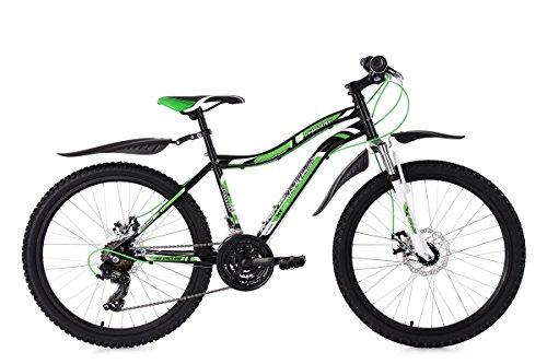 KS Cycling MTB Hardtail 24'' Phalanx schwarz-weiß grün