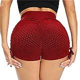 Zhou-YuXiang Pantalones Cortos Deportivos Transpirables para Mujer, Pantalones Cortos Informales Ajustados de Cintura Media Ajustados, Push Up, sólidos, sin Costuras, de Secado rápido