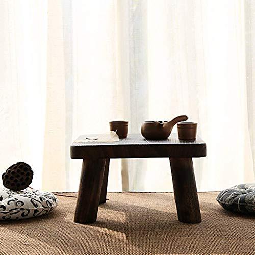 ADSE Mesas de Centro Mesa pequeña Mesa Auxiliar Pequeña en la Sala de Estar Mesa con Ventana salediza en Mesa Baja Japonesa