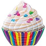 Intex- Materassino Cupcake-Stampa Realistica, Multicolore, 142 x 135 cm, 58770