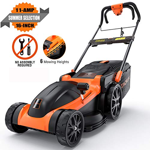 Tacklife KALM1340A 16″ 11 Amp Corded Electric Lawn Mower Review