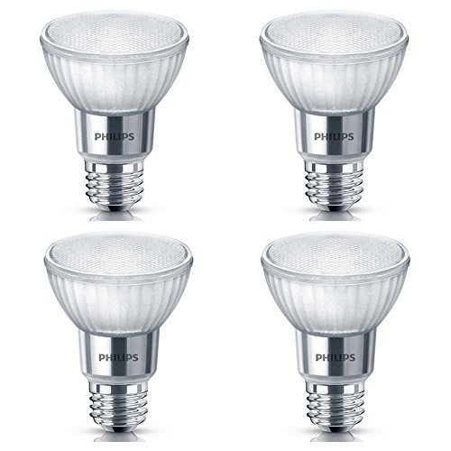 Philips LED Classic Glass Dimmable PAR20 40-Degree Spot Light Bulb: 500-Lumen, 5000-Kelvin, 7-Watt (50-Watt Equivalent), E26 Base, Daylight, 4-Pack