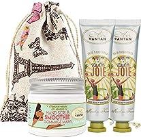 Coffret Beauté Main- 1 Gommage 50ml Huile Amande Douce & Aloe Vera+ Lot 2x25 ml Cremes Mains Fleur D'Oranger,...