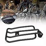 Samger Nero Motociclo Portapacchi Posteriore Solo per Harley Davidson XL...
