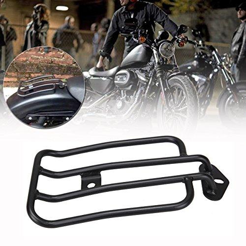 Sange Black Motorrad Gepäckträger Solo Sitz Gepäckträger Plated Gepäckregal für Harley Sportster XL 883 1200 77-0073 77-0073-B