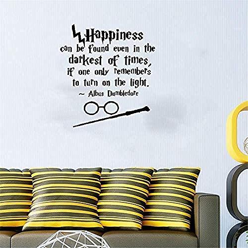 Harry Potter felicità citazione autoadesivo della parete home art decalcomania della parete soggiorno camera da letto decorazione murale adesivo rimovibile in vinile 59 * 59 cm