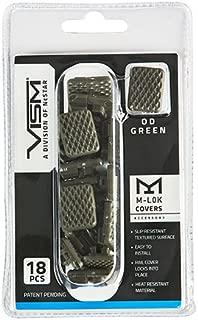 NcSTAR VAML1CG Vism M-LOK Covers, Green, per 18