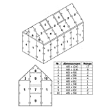 Zelsius Hohlkammerstegplatten Set 42-teilig | 6 mm Gewächshausplatte | Ersatzplatten für Gewächshaus, Garten Treibhaus