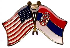 "Order by 2PM Eastern Time and most orders ship the same day from the state of Georgia in the US Flag lapel pin friendship badges measure 1 1/8"" wide x 3/4"" high Pins have a colored enamel fill with a smooth epoxy dome finish Gold trim around edges of..."