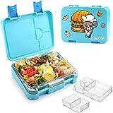 kungfuren Lunchbox Kinder, auslaufsicher Bento Box, Brotdose Kinder für Lebensmittel, Obst, Snack, einfach zu öffnen und zu schließen, perfekt für Kindergarten, Schule, Picknick