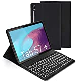 Keyboard Case for Samsung Galaxy Tab S7+/Tab S7 Plus 12.4-inch, Jelly Comb Backlit