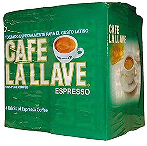 Café La Llave Espresso, Dark Roast, Fine Grind, 4-10 ounce bricks