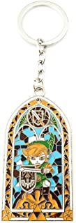 Legend of Zelda Stained Glass Fashion Novelty Keychain Game Series with Gift Box
