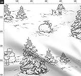 Toile De Jouy, Winter, Schnee, Kinder, Spielen, Schneemann