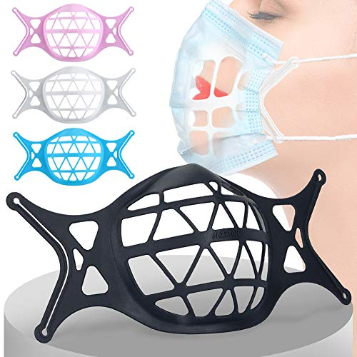 Aozzy 4 Pack 3D Face Mask Bracket Food Grade Silicone Inner Support Frame -Face Mask Inserts for Breathing Room for More Breathing Space, Keep Fabric off Mouth, Lipstick Protection Stand, Washable