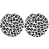 Best Car Coasters - Car Coasters Pack of 2,Leopard Print Absorbent Ceramic Review