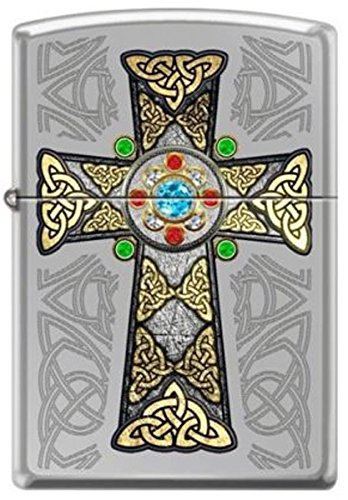 Zippo Celtic Cross High Polish Chrome Lighter