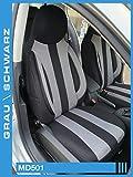 Maß Sitzbezüge kompatibel mit Mercedes C-Klasse W205/S205 Fahrer & Beifahrer ab Farbnummer: MD501