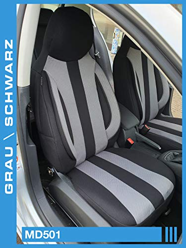 Maß Sitzbezüge kompatibel mit Hyundai Kona Fahrer & Beifahrer ab 2017 Farbnummer: MD501
