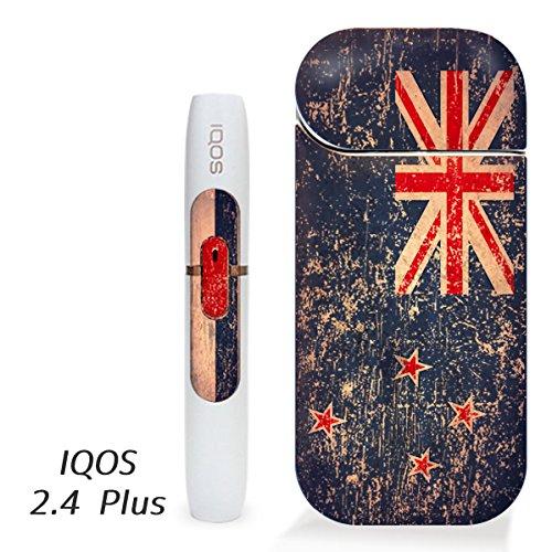 アイコス用 スキンシール ( 2.4Plus 用 ) ニュージーランド 国旗 (アンティーク) シール ステッカー iQOS用,