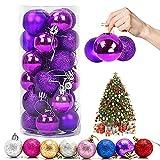 Bola de Navidad, 24 Piezas Bola de Árbol de...