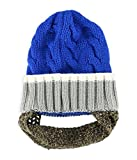 Aeropostale Mens Novelty Beard Beanie Hat, Blue, One Size