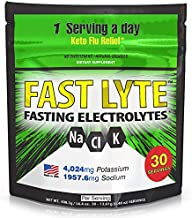 FAST LYTE Fasting Electrolytes 4000 mg Potassium 2000 mg Sodium - for Fasts, Keto, Paleo, Carnivore and Intermittent Fasting - Large Pack - 30 Servings