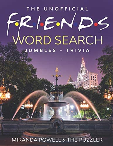 THE UNOFFICIAL FRIENDS WORD SEARCH JUMBLES AND TRIVIA BOOK product image