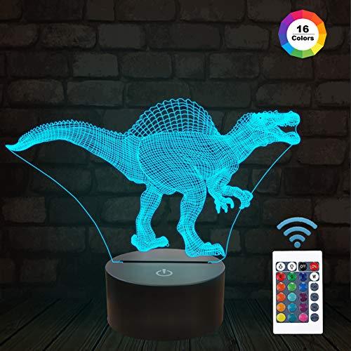 Veilleuse LED, lampe illusion 3D Cat Kitty veilleuses avec base en acrylique plat et ABS et câble USB Télécommande Modes de changement de 16 couleurs pour enfants, bébé, enfants