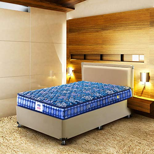 Peps Springkoil Bonnell 6-inch Queen Size Spring Mattress (Dark Blue, 72x60x06) with Two Free Pillow