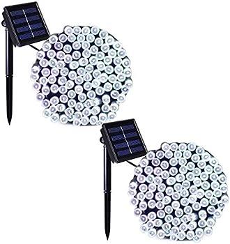 2-Pack Binval 72 Ft 200LED Solar Fairy Christmas String Lights
