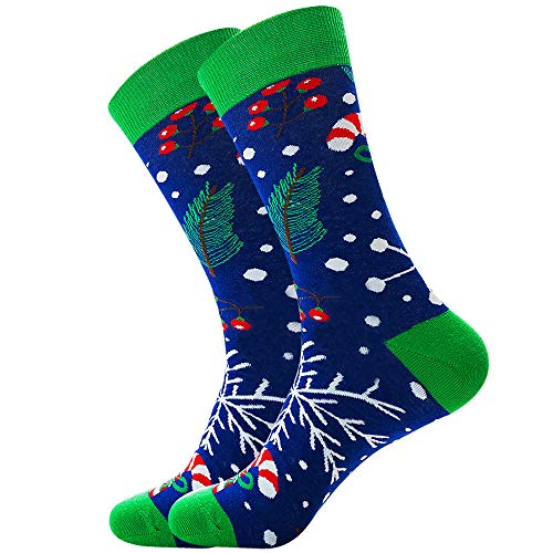 HEZE Nuovi calzini Calzini da uomo in tubo di alce Babbo Natale calzini in cotone marea