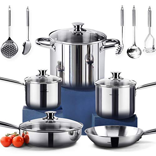 Image of HOMI CHEF 14-Piece Nickel...: Bestviewsreviews