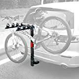 Leader Accessories Hitch Mounted 4 Bike Rack Bicycle Carrier Racks Foldable Rack
