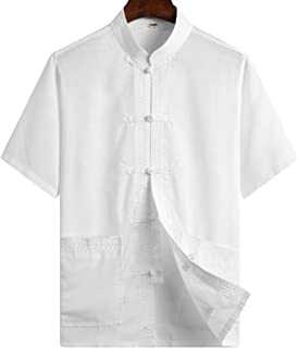 ZooBoo Chinese Clothing Tang Suit - Kung Fu Short Sleeve Shirt for Men