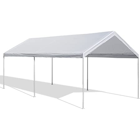 Caravan Canopy 10 X 20 Feet Domain Carport White Garden Outdoor