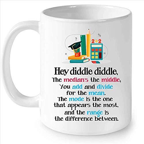 Hey Diddle Diddle Der Median ist die Mitte, die Sie hinzufügen und für den Mittelwert teilen. Der Modus ist der eine Kaffee-weiße Becher