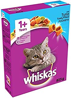 Whiskas Cat Complete Dry with Tuna 825g (Pack of 4)