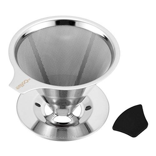 Hi Collie Edelstahl Kaffeefilter Wiederverwendbar Kaffee Filter/Teefilter, Geeignet Für 1 bis 4 Tassen Kaffee