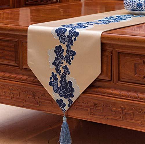 ZHAS Tischfahne, Chinesischen Stil Tischfahne Redwood Möbel Couchtisch Esstisch Schreibtisch Sideboard Tischdecke 33x210 cm (Größe: 33x180 cm)