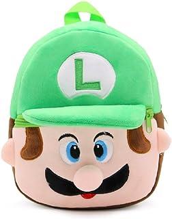 Mini mochila de peluche para bebé de 1 a 3 años, Luigi (Verde) - shoulder-handbags