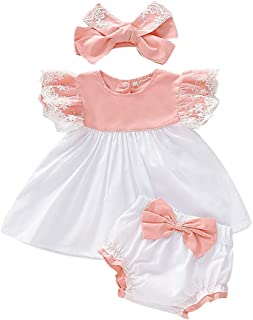 zhangwei Kids Girls Sleeveless Lace Top Print Summer Vest Shirt Shorts Two-Piece Beach Swimwear Set