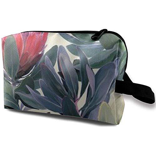 Voyage Cosmetic Bag Portable Sac À Main Protea Paradise Trousse De Toilette Petits Sacs De Maquillage Cas Organisateur